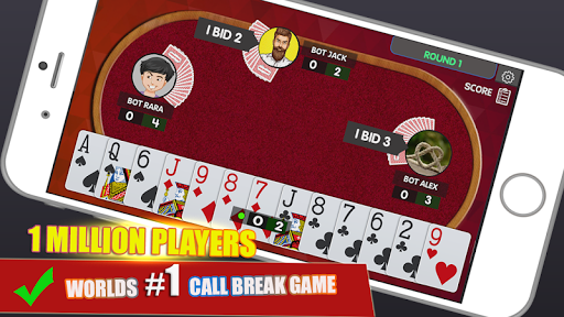 Call Break Card Game  gameplay | by HackJr.Pw 12