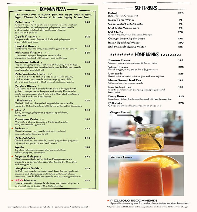 PizzaExpress menu 3