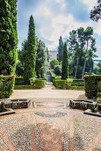 Photo: Looking back up through the gardens to the Villa d'Este in Tivoli, Lazio, Italy