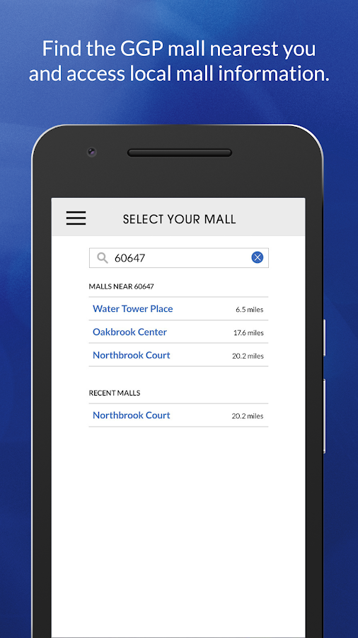 GGP Malls- screenshot