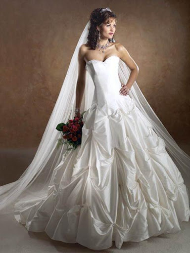 heart rose strapless wedding dress