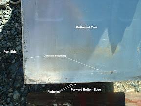 aluminum fuel tank V bottom