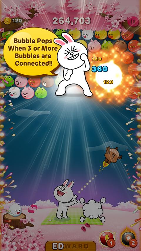 LINE Bubble! - screenshot
