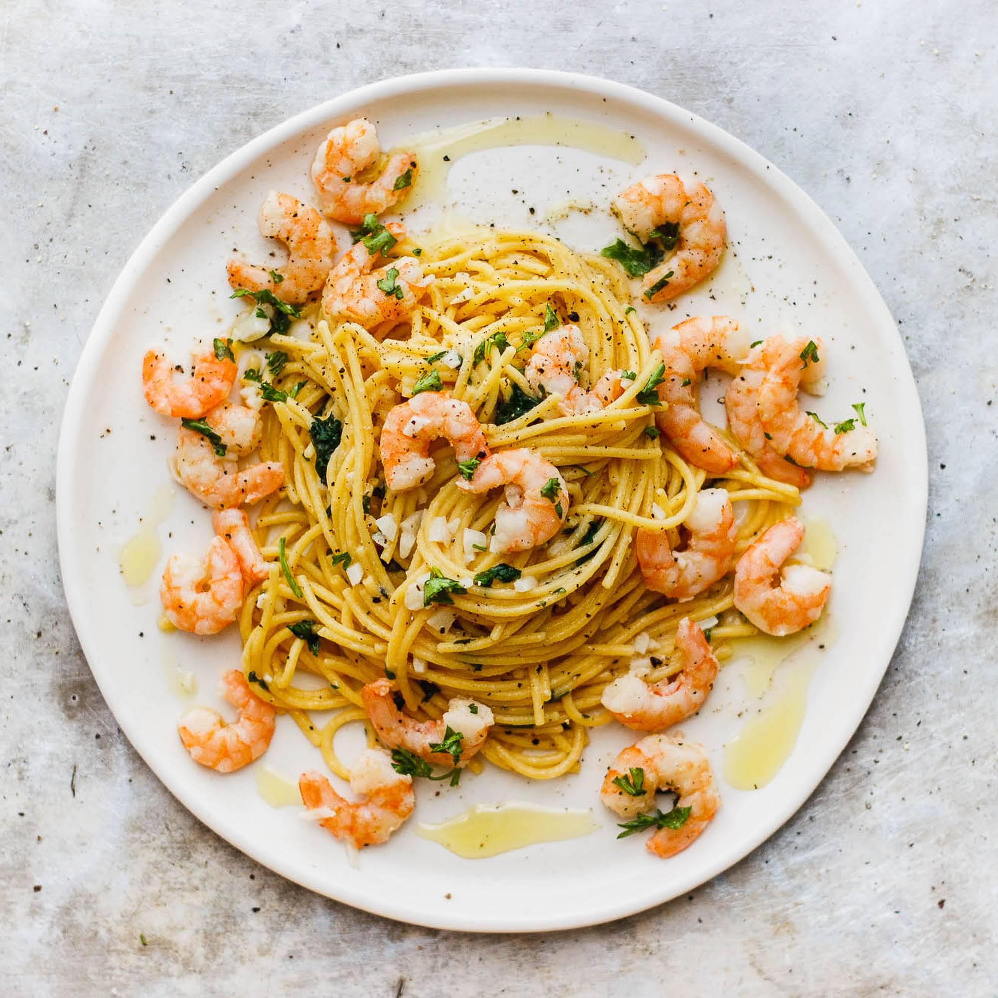Spaghetti Shrimp Scampi Recipe Yummly