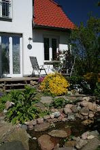 """Photo: Bachlauf vor der Terrasse """"Storchennest"""""""