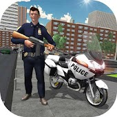 Police Moto Bike Real Gangster Chase