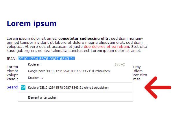 Text ohne Leerzeichen kopieren - amaz.in/g