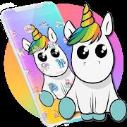 Cute Colorful Cartoon Unicorn Theme