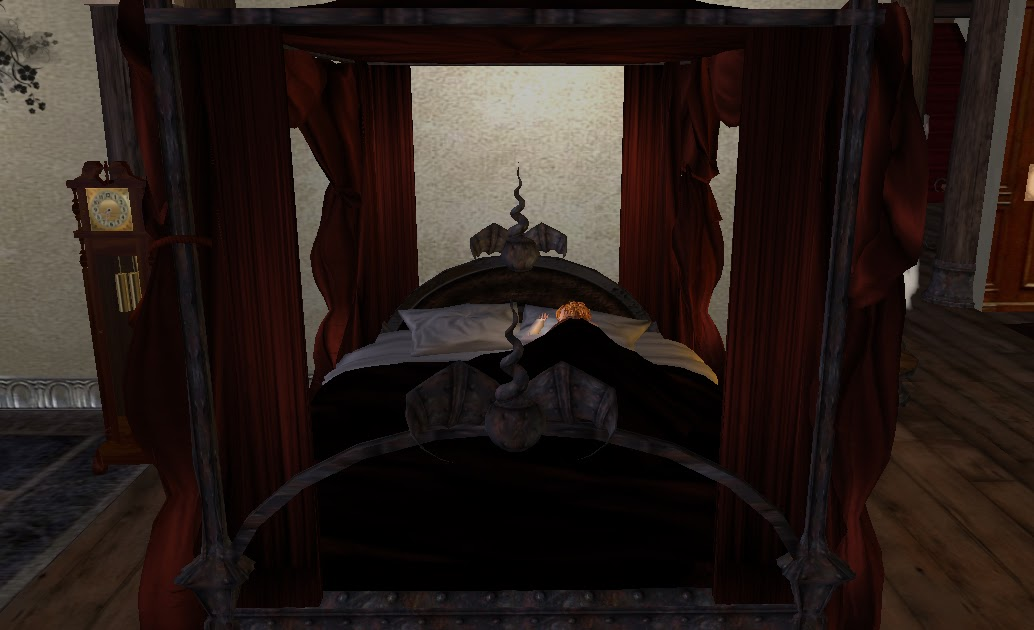 Rustica: Shades Of Black Gothic Canopy Bed