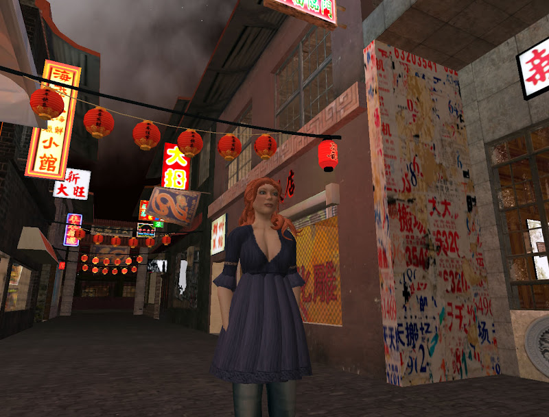In Chinatown, on the Downtown sim.