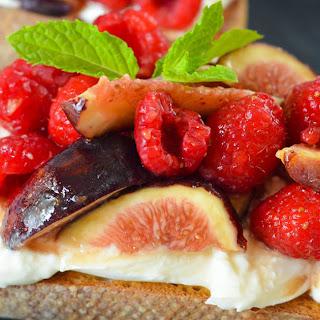 Fig + Berry Burrata Toasts.