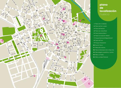 Plano de Localizacion de Huesca