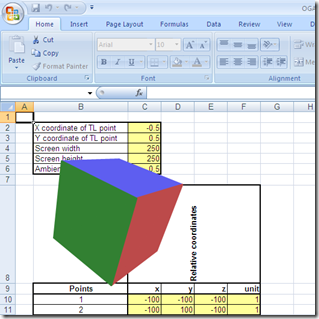 3D grapgics rendering in MS Excel