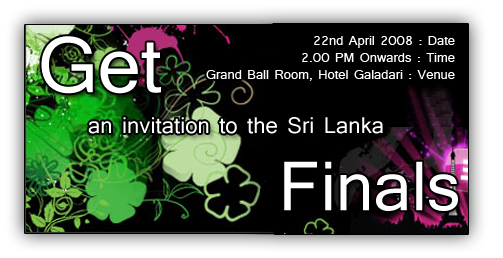 Get invited for Imagine Cup 2008 Sri Lanka finals