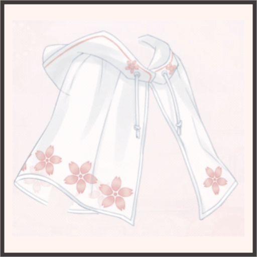 桜のレインケープ