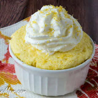 Sugar-Free Lemon Mug Cake.