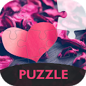 Puzzle with love icon