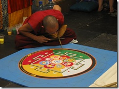 Tibet Mondala Sand Painting for Karma