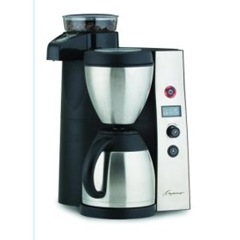 Capresso 455 CoffeeTEAM Therm Stainless Coffeemaker Burr Grinder Combination