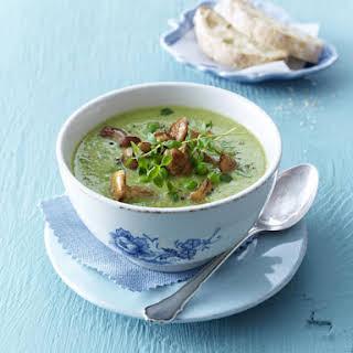 Pea and Mushroom Soup.
