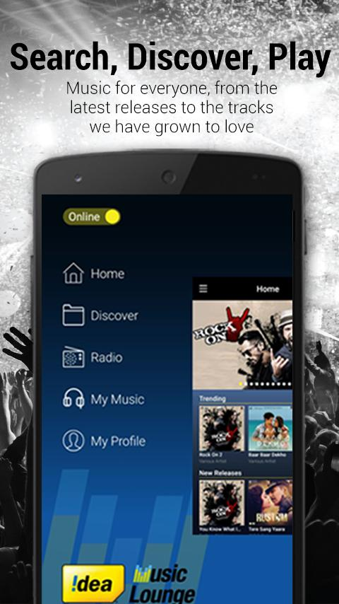 Idea Music Lounge - HD Bollywood Songs & Radio- screenshot