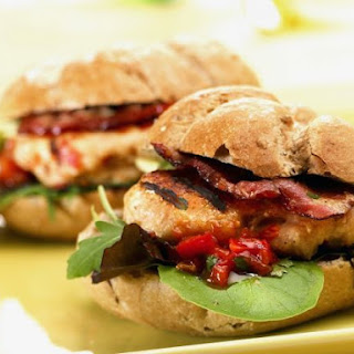 Chicken Patty and Bacon Buns