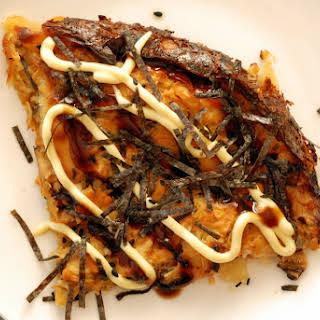 Vegan Okonomiyaki (aka Japanese Vegetable Pancake).