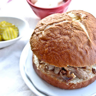 Pineapple Soy Slow Cooker Pork Sandwiches