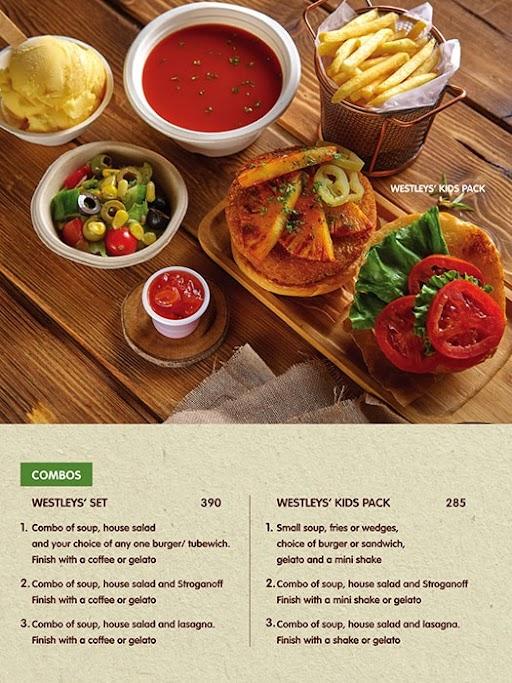 Westleys Restocafe menu 2
