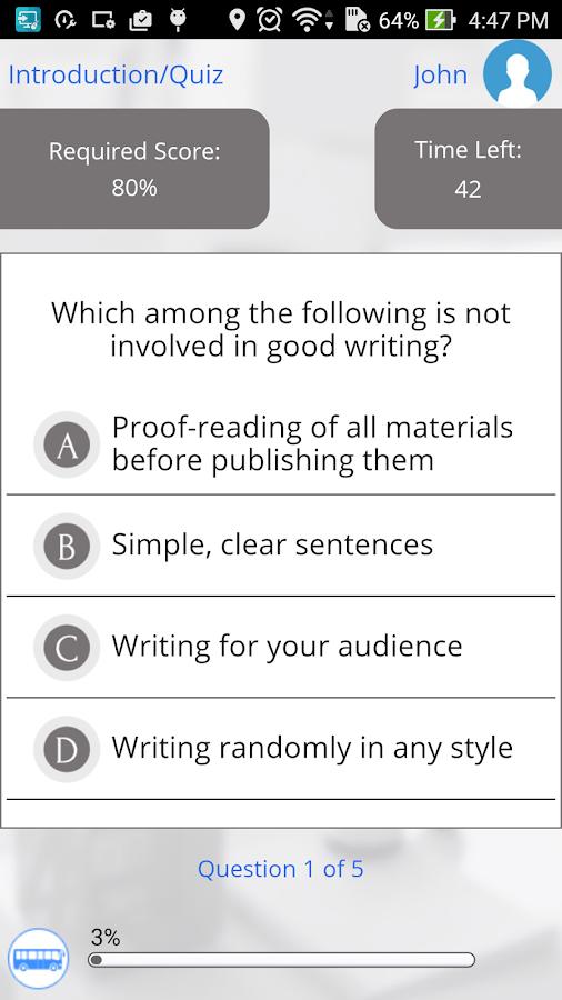 Learn english writing