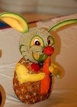 Photo: fruit carving - rabbit