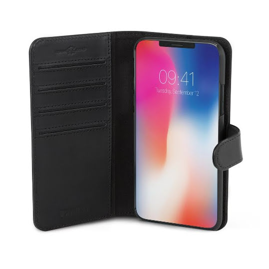 Wallet Läder Slim iPhone X/XS Svart