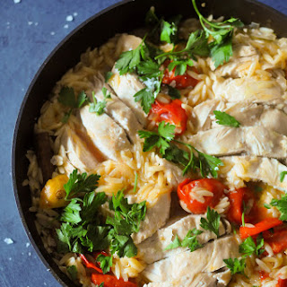 Chicken with Preserved Lemon & Orzo Recipe