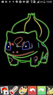 Draw Glow Pokemon - náhled