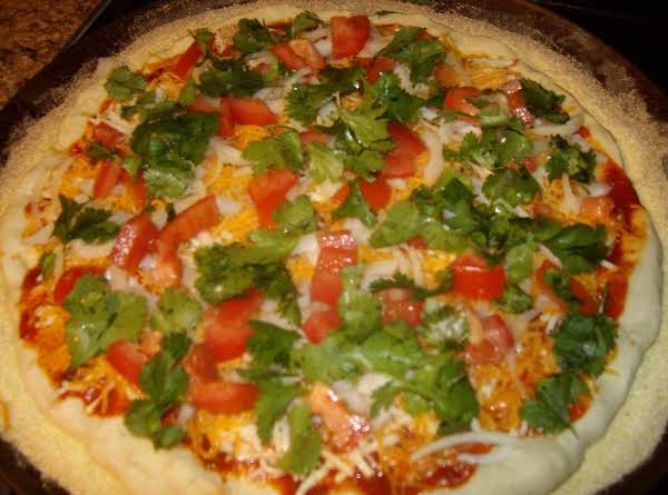 Emilie's Homemade Mexican Taco Pizza!