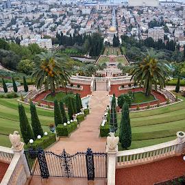 Bahá'í gardens by Mirko Ilić - City,  Street & Park  City Parks ( nature, green, harbour, gardens, haifa, bahai, israel,  )