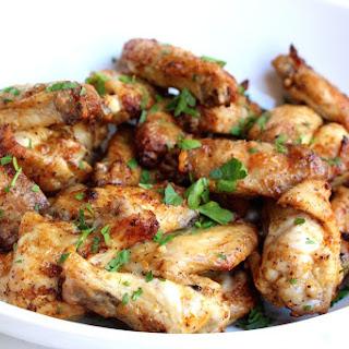 Lemon Pepper Baked Chicken Wings.