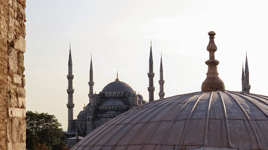 Photo: Blue Mosque as seen from the Hagia Sophia