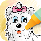 Dog Coloring game icon