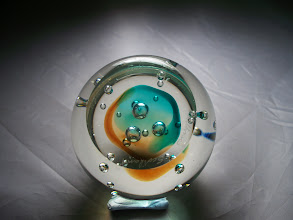 """Photo: Caithness """"GULF STREAM""""  The paperweight was designed by Alastair MacIntosh"""
