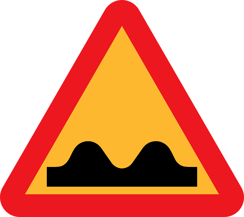 Free vector graphic: Caution Sign, Speed Bump Ahead - Free Image ...