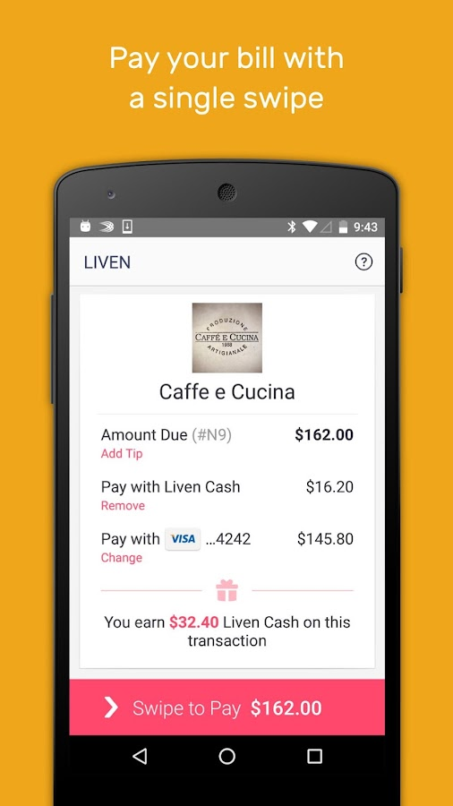 Liven - Dine and Get Cashback- screenshot