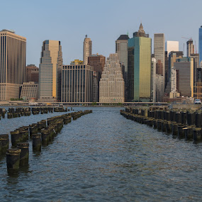 New York City by Logan Knowles - City,  Street & Park  Skylines ( skyline, old, pier, new york city, nyc )