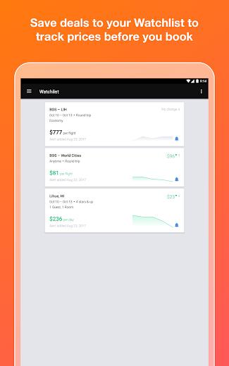 Screenshot 9 for Kayak's Android app'