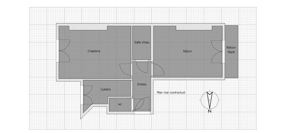 Vente appartement 2 pièces 35.4 m² à Paris 18ème (75018), 351 000 €