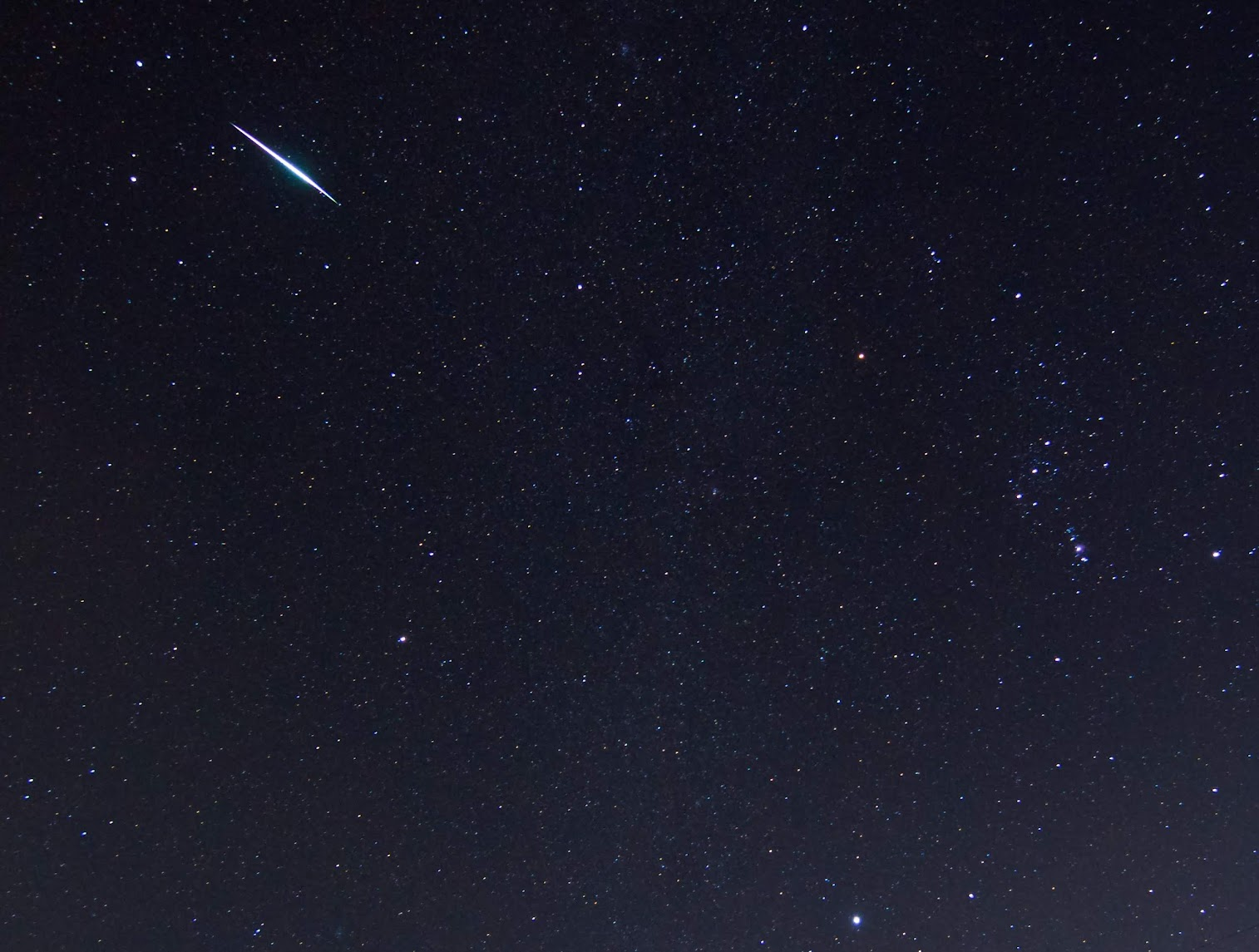 A Bright Geminid Meteor - Version 2 (Cropped)