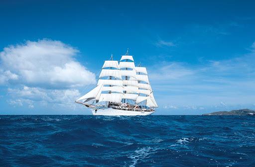 sea-cloud-at-sea.jpg - Sail the Mediterranean or Caribbean aboard the classic sailing ship Sea Cloud on a Lindblad Expeditions vacation.