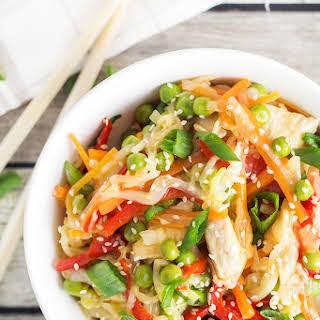 Chicken Cabbage Stir Fry.