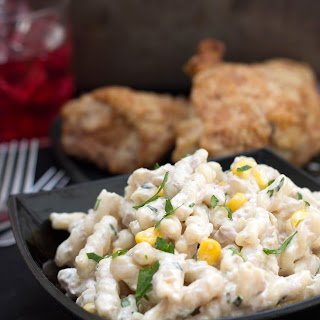 Quick and Easy Corn & Tuna Pasta Salad.