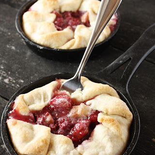 Raspberry Rhubarb Mini Tarts.